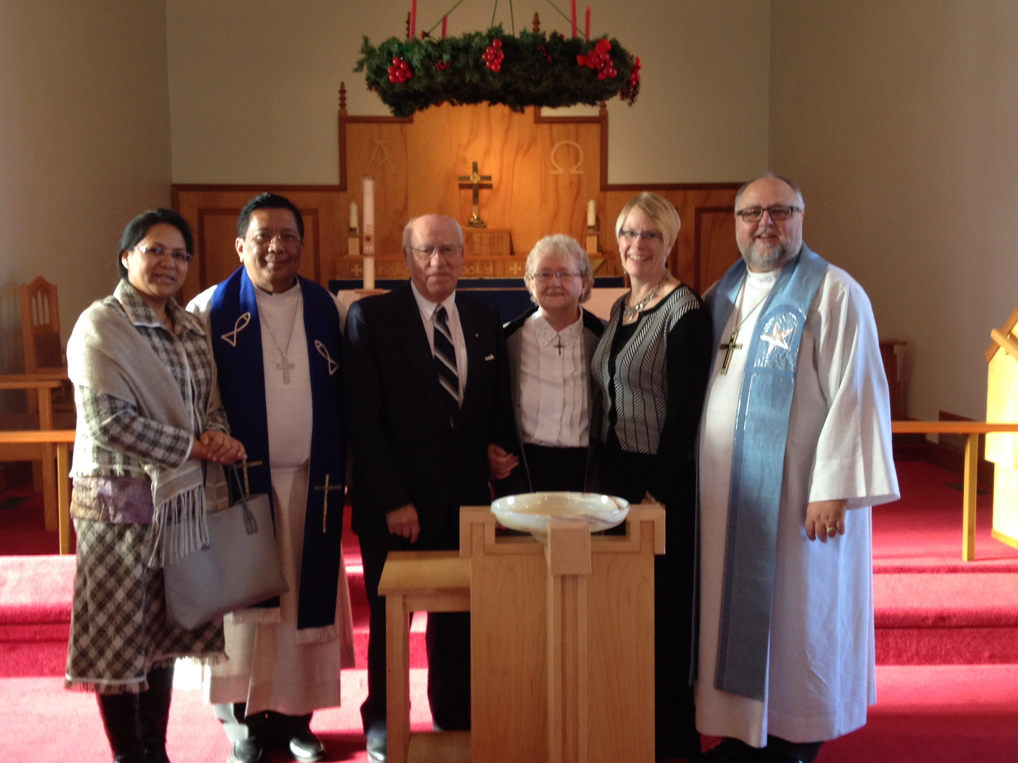 Advent 1, 2014 Christ Trinity, Lethbridge Pastor Olivier and Holy, Harold and Ella Martin, LAK, Cathy
