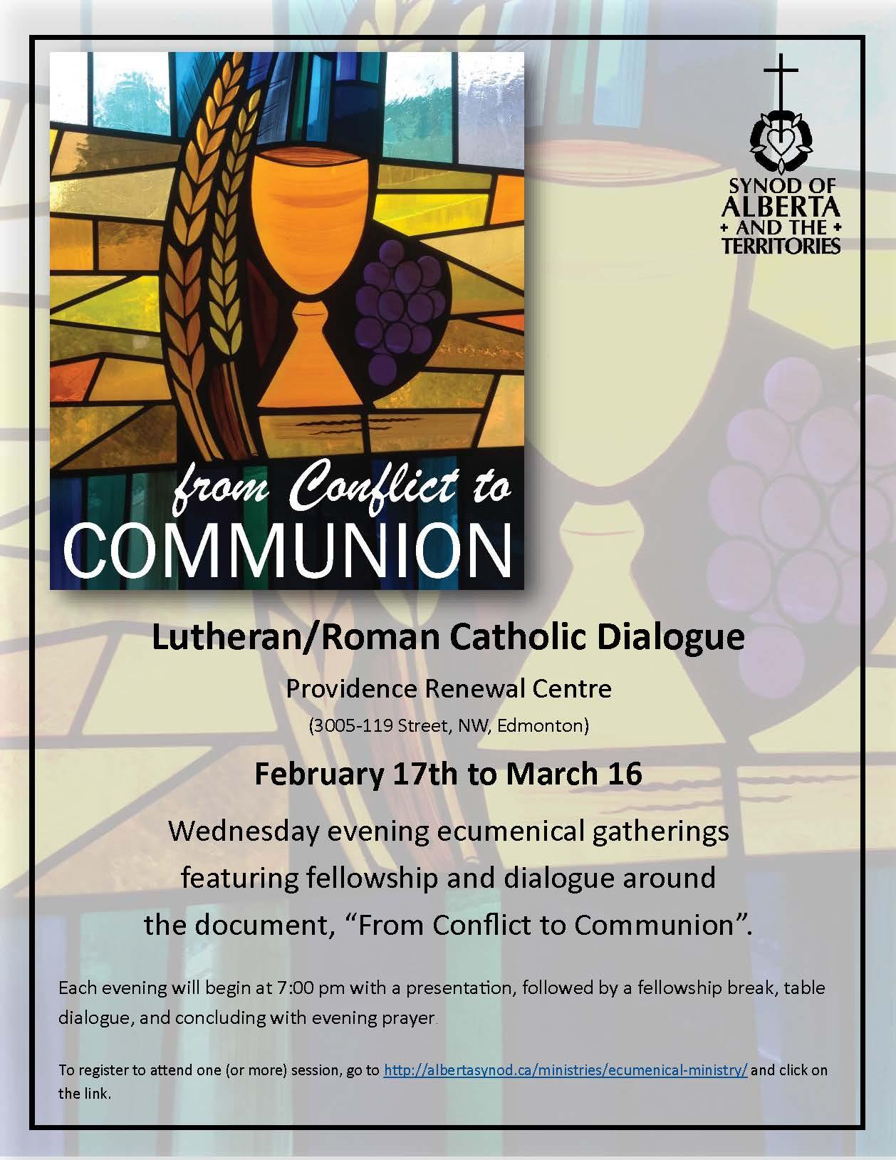 2016 Lenten Dialogue poster