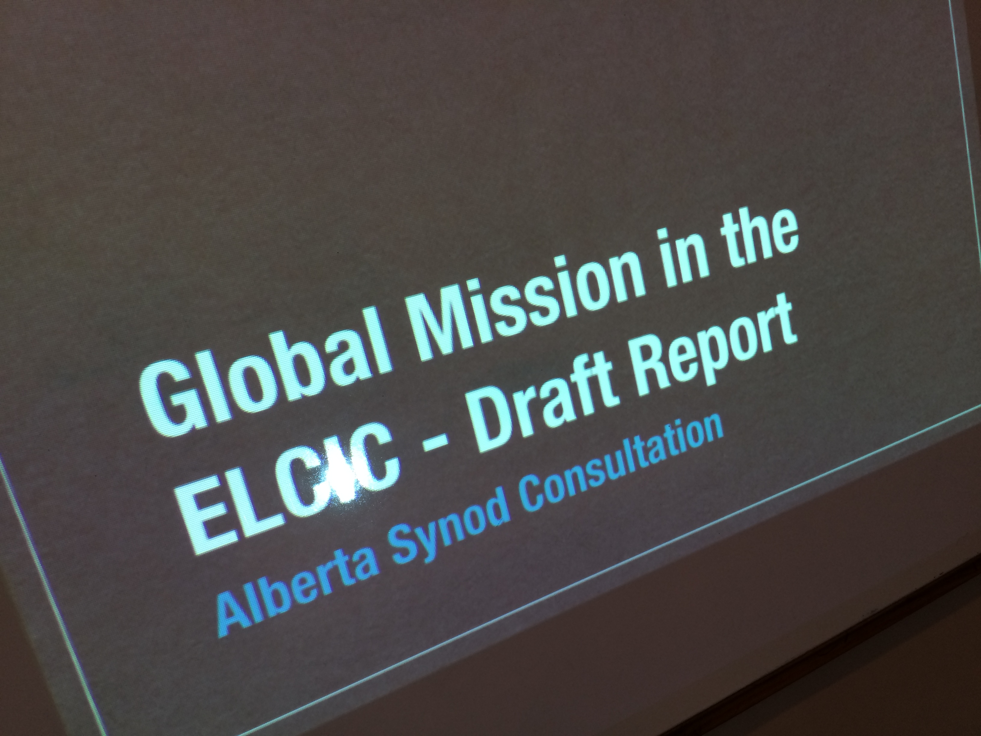 Global MIssion task force meeting April 2016